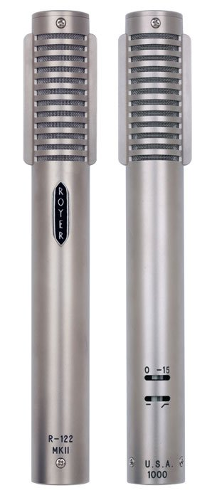 Matched Pair of Active Ribbon Microphones