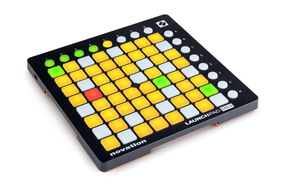 novation launchpad mini mk2 mini grid controller with 64 trigger pads for ableton live full. Black Bedroom Furniture Sets. Home Design Ideas