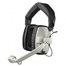 Headset/Mic, Dual Ear 200/50 ohm, No Cable, Grey