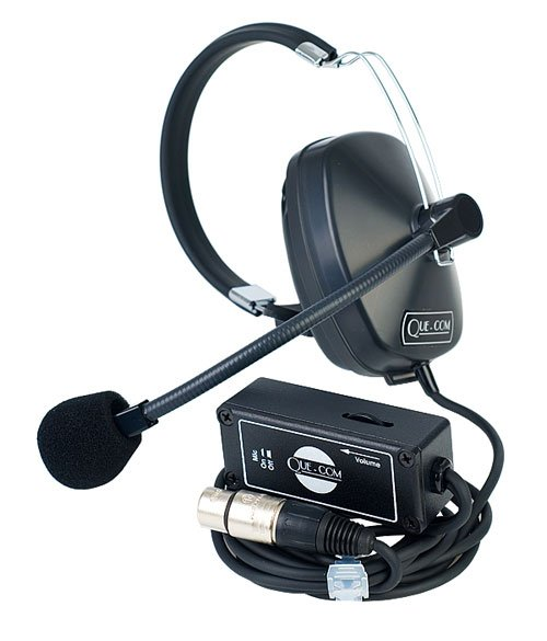Que-Com Single-Ear Headset and Beltpack System