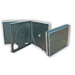 4-Disc Jewel Case with Black Trays