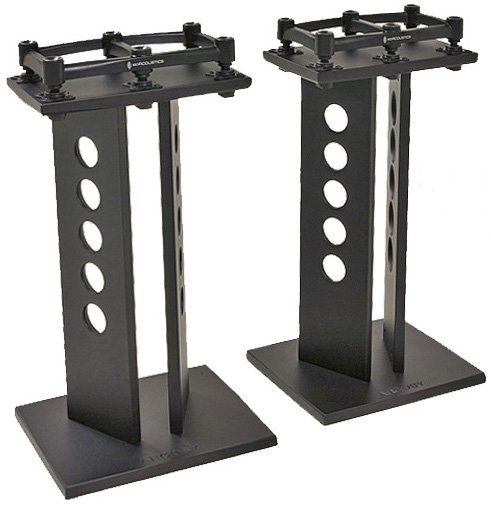 "1 Pair of 42"" Speaker Stands with Iso-Acoustics Platforms"