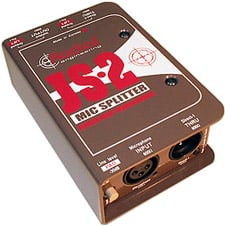 Radial Engineering JS2 Passive Mic Splitter, 1 Input, 2 Direct Outs, 1  Jensen Isolated Output