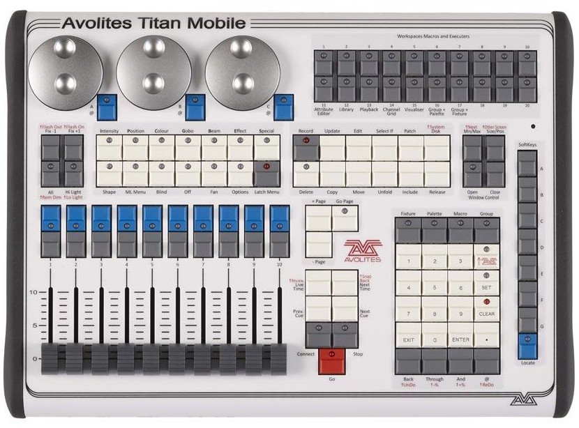 Avolites 30-01-9800 Lighting Control Surface With 10