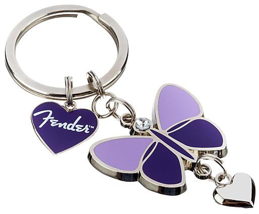 Fender 910-0276-000  Purple Butterfly Keychain 910-0276-000