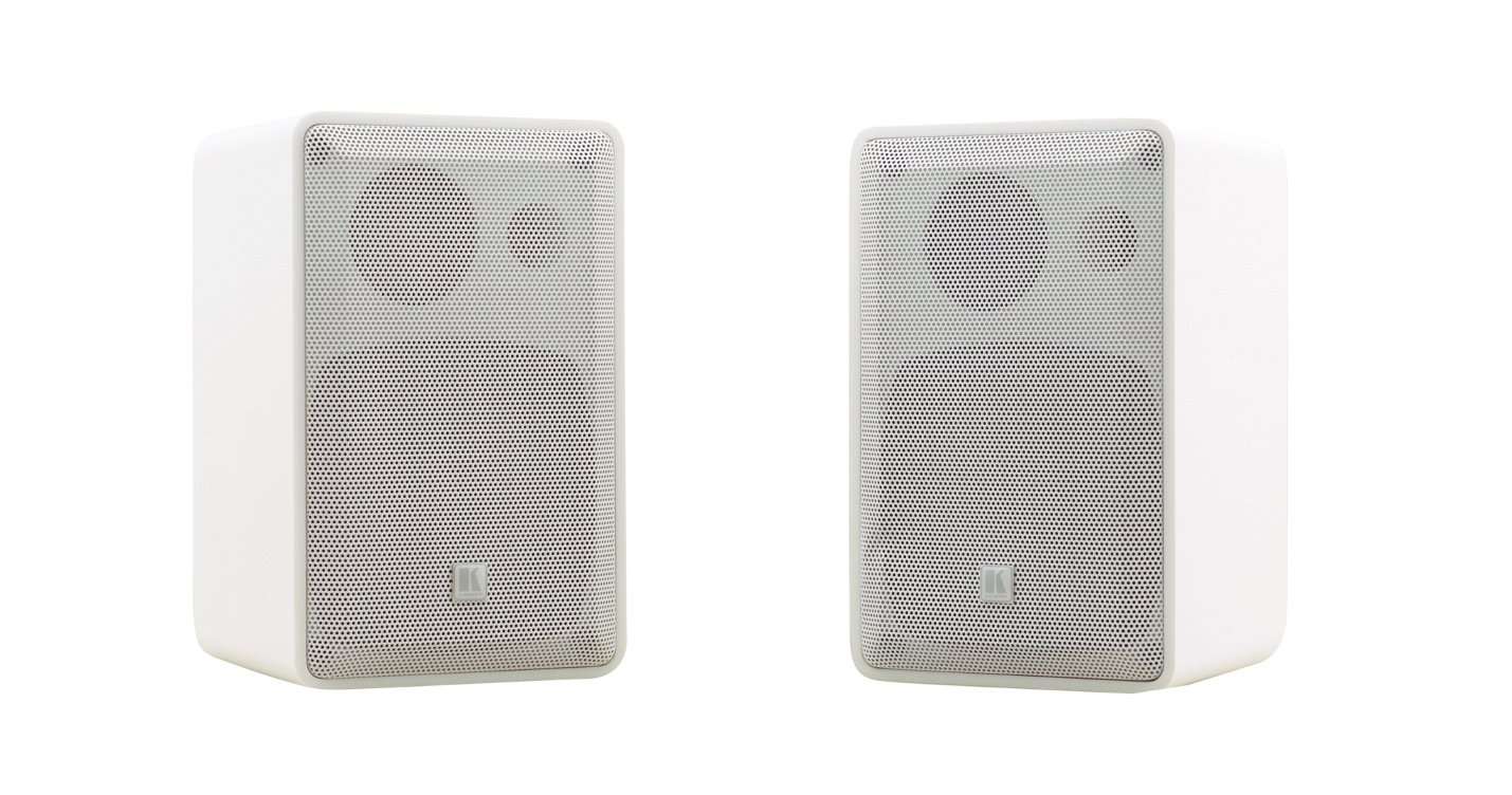 "Pair of White 4"", 2-Way On-Wall Speakers"