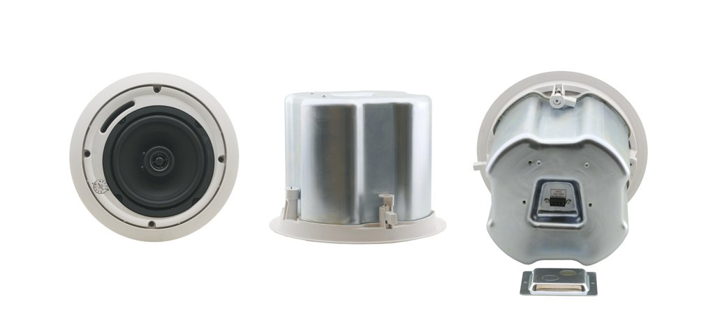 """Pair of White 6.5"""" 2-Way Closed-Back Ceiling Speakers"""