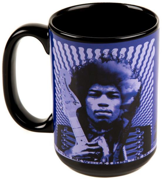 Jimi Hendrix Kiss the Sky Purple Mug