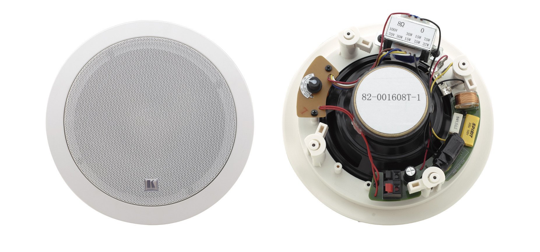 "Pair of White 6.5"", 2-Way Open-Back Ceiling Speakers"