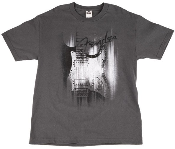Large Airbrushed Strat T-Shirt in Gray