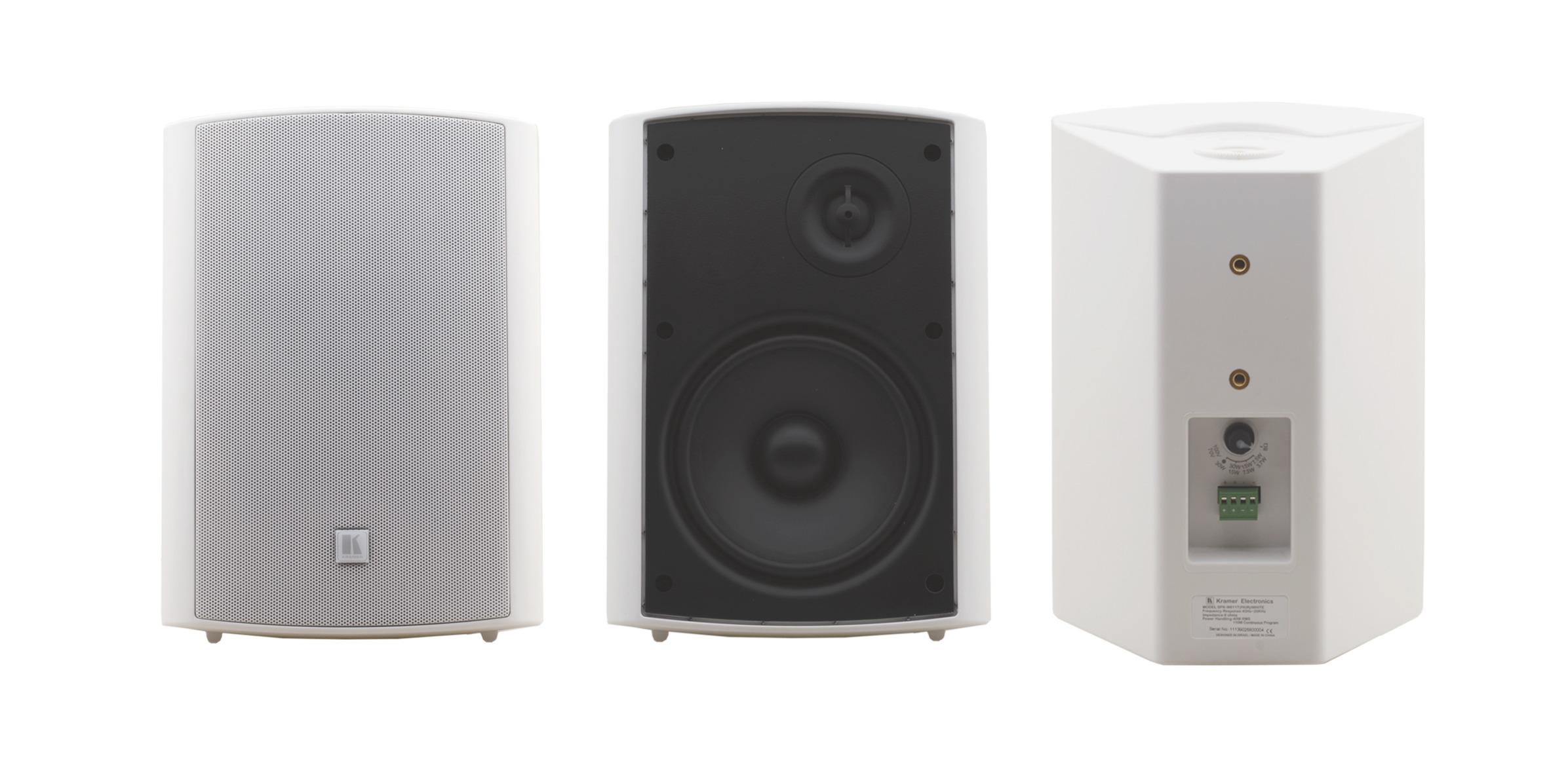 """Pair of Black 6.5"""" 2-Way On-Wall Speakers"""