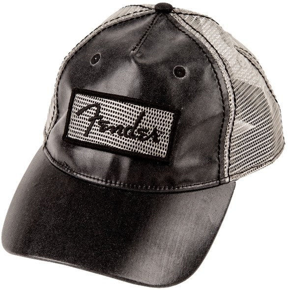 Black Clear Coat Trucker Hat - One Size Fits All