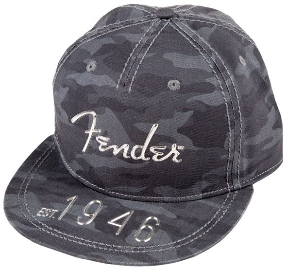 Camo Flat Brim Hat with Hi-Def Logo - One Size Fits All