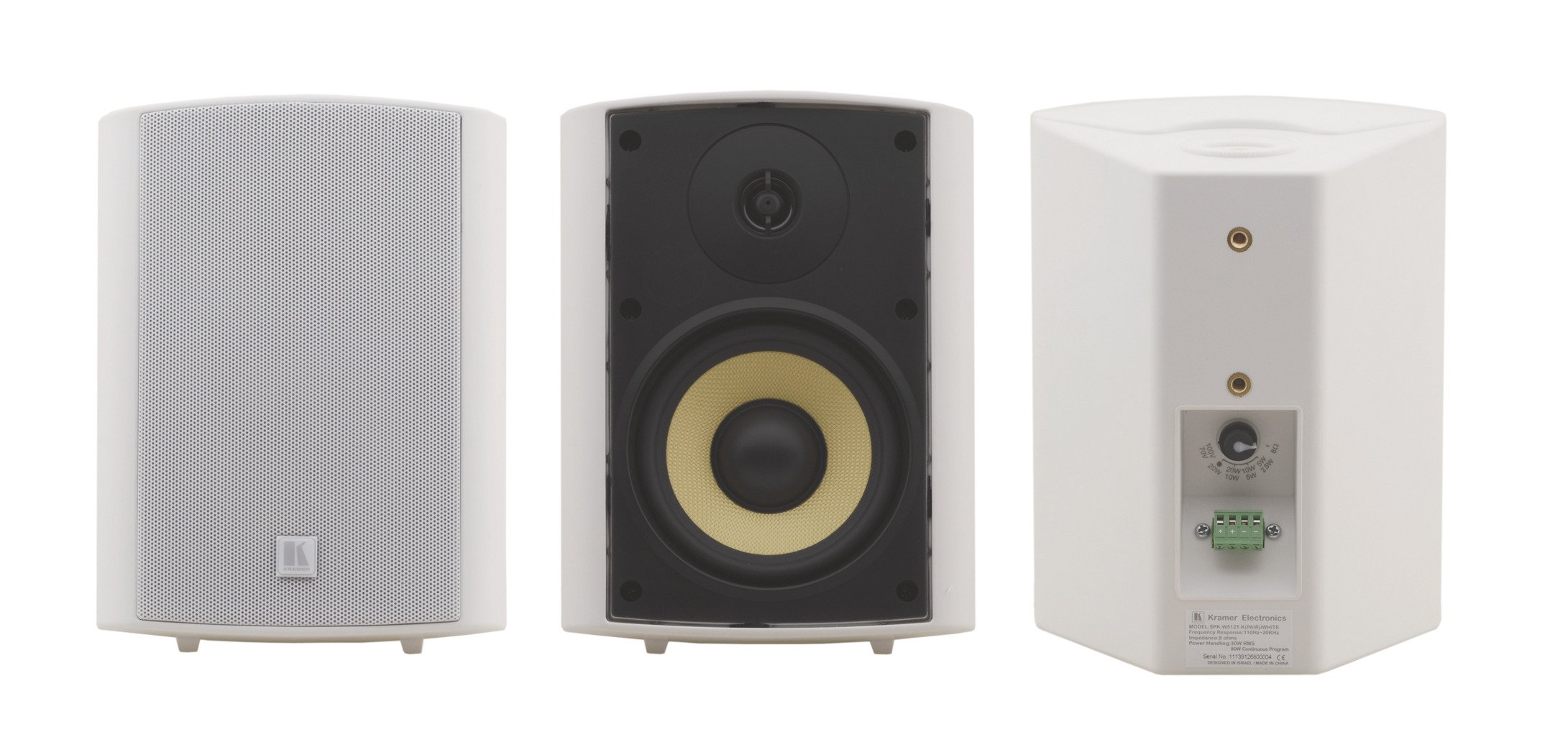 "Pair of White 5.25"", 2-Way, On-Wall Speakers"