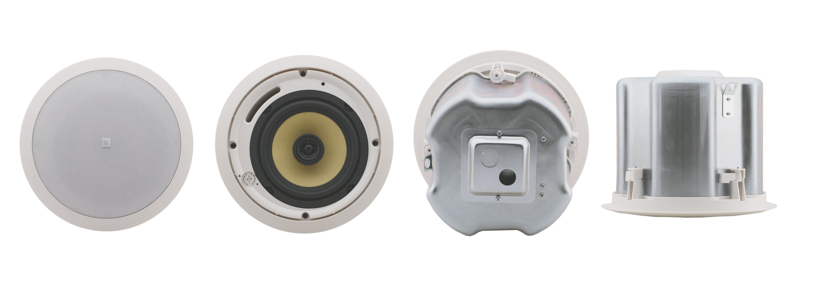 "Pair of White 6.5"", 2-Way Closed-Back Ceiling Speakers"