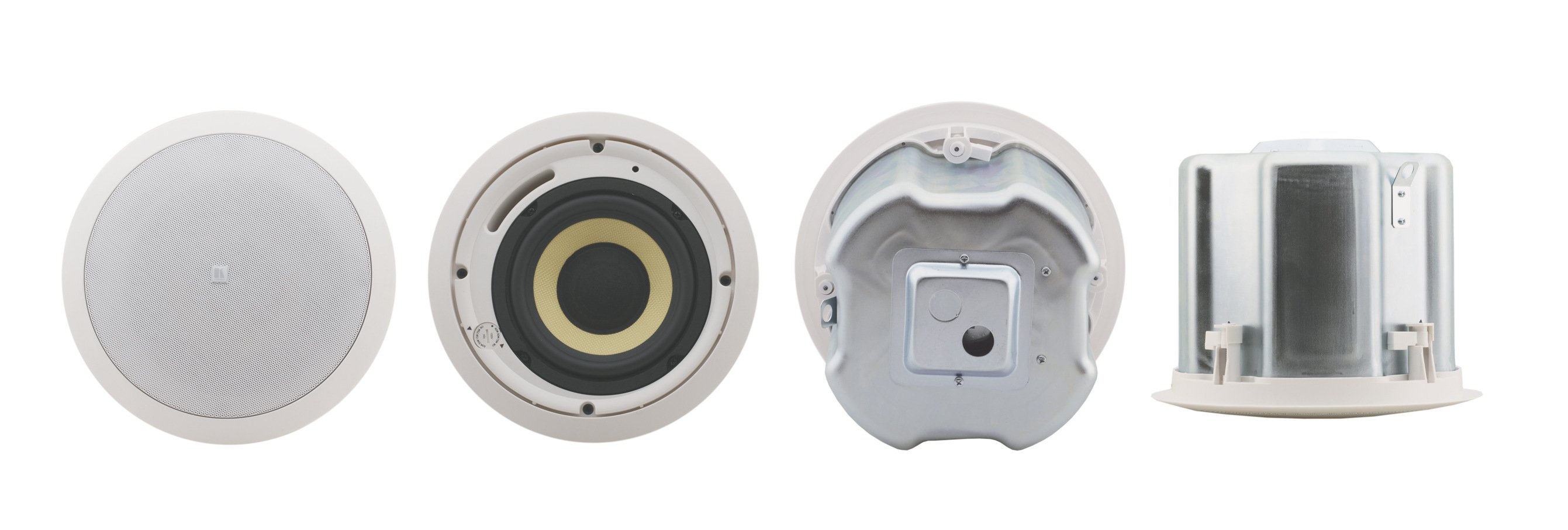 "Pair of White 6.5"", 2-Way, Closed-Back Ceilng Speaker"