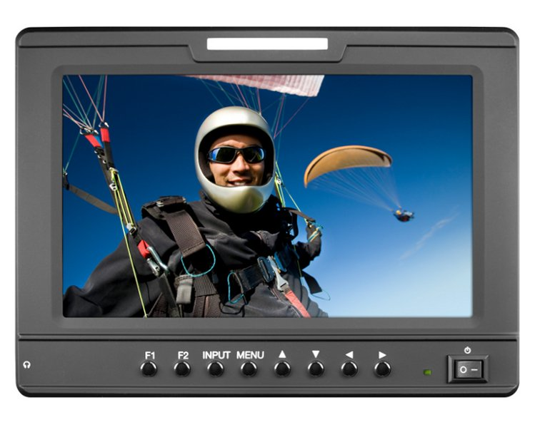 """7"""" High Resolution Camera-Top Monitor with Multiple Inputs"""
