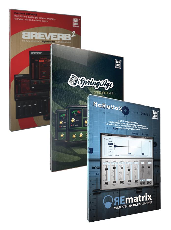 Reverb Software Bundle with REmatrix, BREVERB 2, and SpringAge Plugins