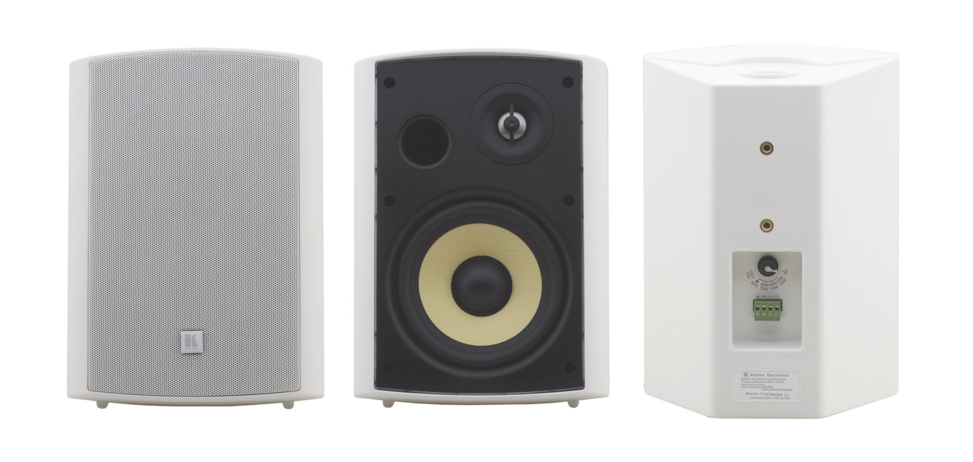 "6.5"", 2-Way On-Wall Speaker, White"