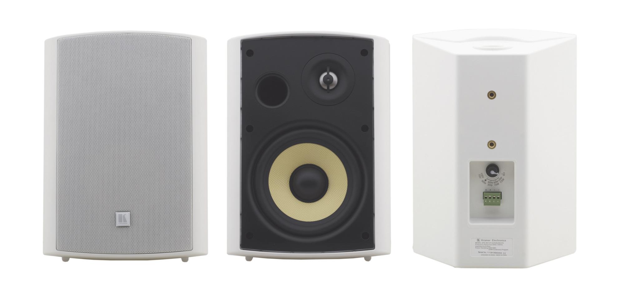 """6.5"""", On-Wall Stereo Speaker, White"""