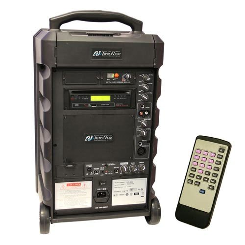 100W Portable PA System with UHF Wireless and CD Player