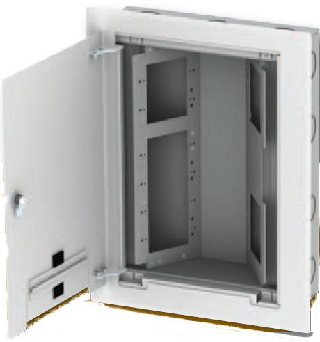 AV Wall Back Box with 2x 1-Gang and 1x 4-Gang Openings