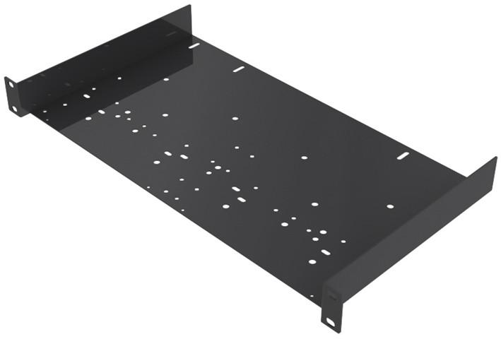 1RU Open Utility Rack Shelf with Universal Hole Pattern