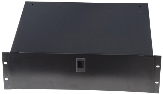 "4RU Lockable Rack Drawer with 14.2"" Depth"