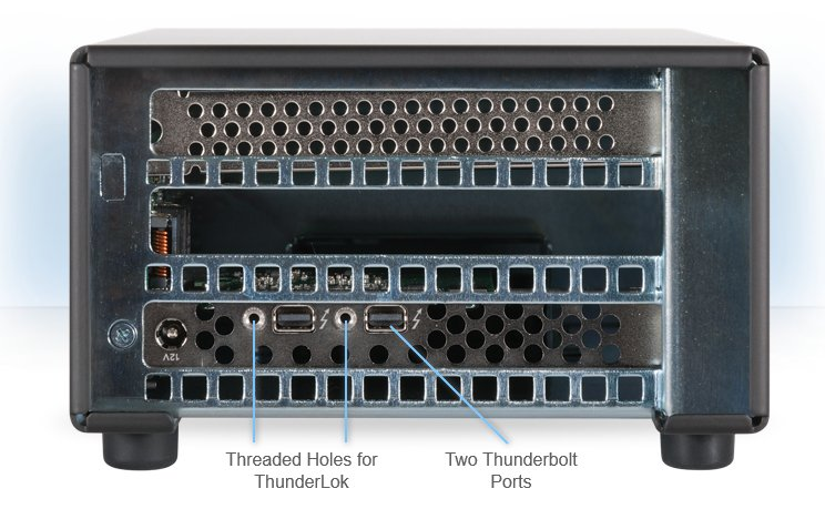 Single-Slot Thunderbolt 2-to-PCIe Card Expansion Chassis