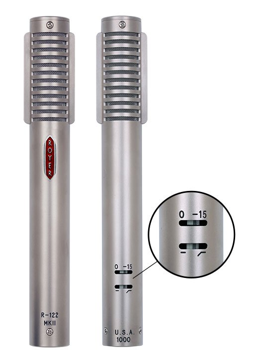 Matched Pair of Active Ribbon Microphones, Dull Nickel Finish