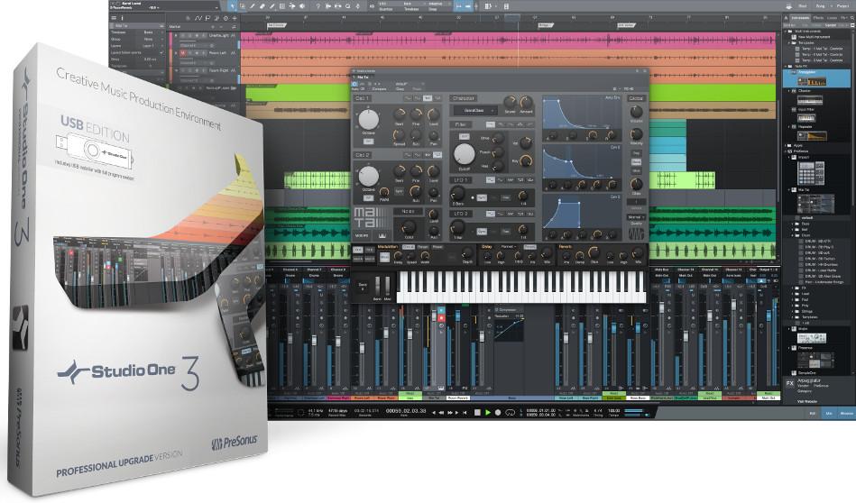 from Studio One Artist - USB Installer, Box, Key Card