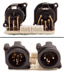 XLR Male PCB for ELED QW Strip