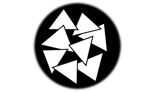 """Breakup Triangle"" Design Steel Gobo"