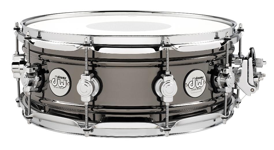 "5.5""x14"" Brass Snare Drum with Black Nickel Finish"