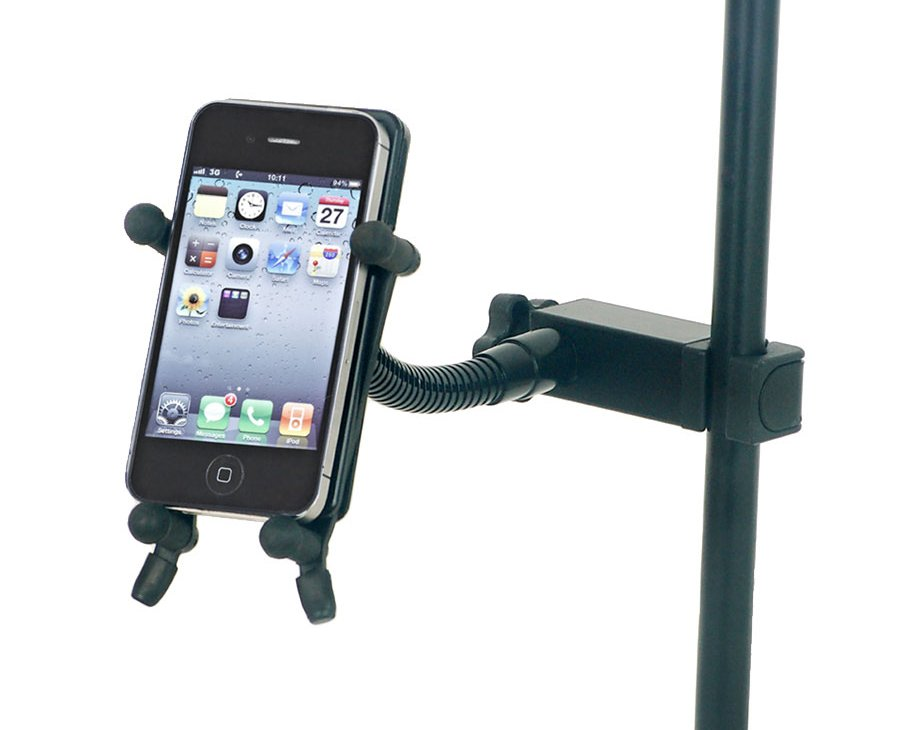System X Series Smartphone Holder with Tube Clamp in Red