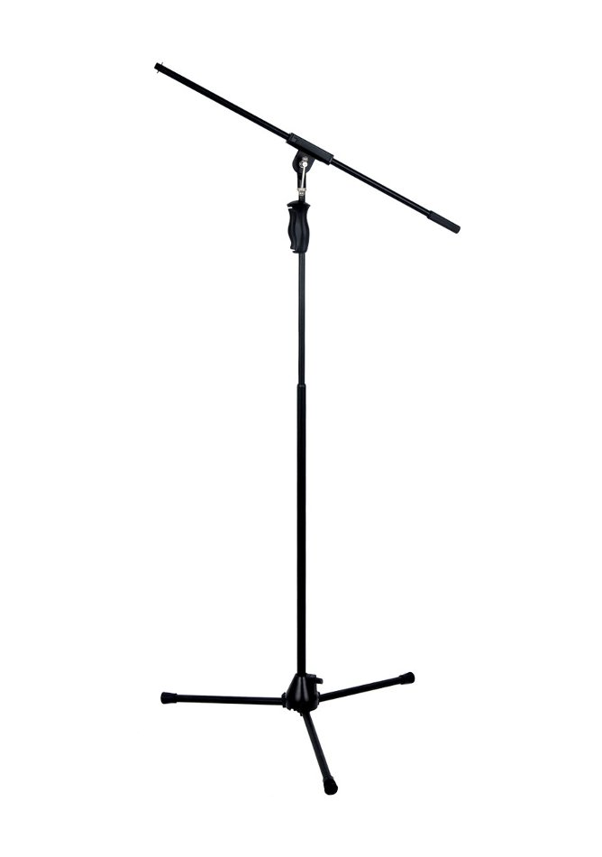 E-Trigger Tripod Base Microphone Stand with Fixed Boom Arm and One-Hand Clutch Height Adjustment