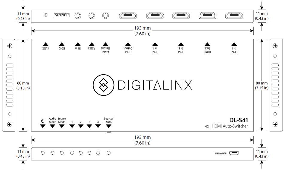 Digitalinx 4x1 HDMI Auto-Switcher