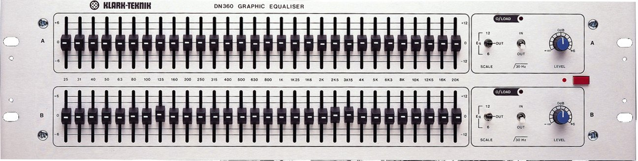 Graphic Equalizer with Dual Resolution and Low Cut Filters with Input and Output Balancing Transformers (Configured Pin 2 Hot)