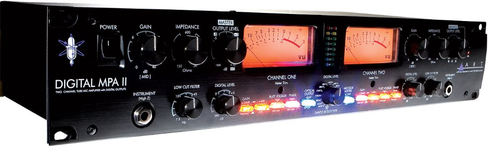 2-Channel Tube Microphone Preamplifier with A/D Conversion