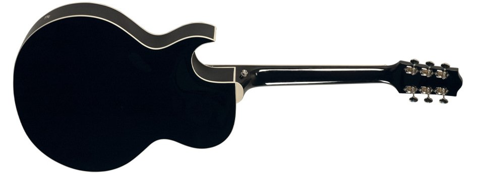 Single Cutaway Archtop Guitar with Dual Humbuckers in Black Finish