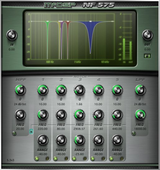 Multi-Band Noise Filter Plug-in, AAX Native, AU, VST Version