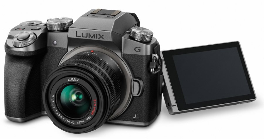 16MP LUMIX G7 Interchangeable Lens Camera Kit with 14-42mm Lens in Silver