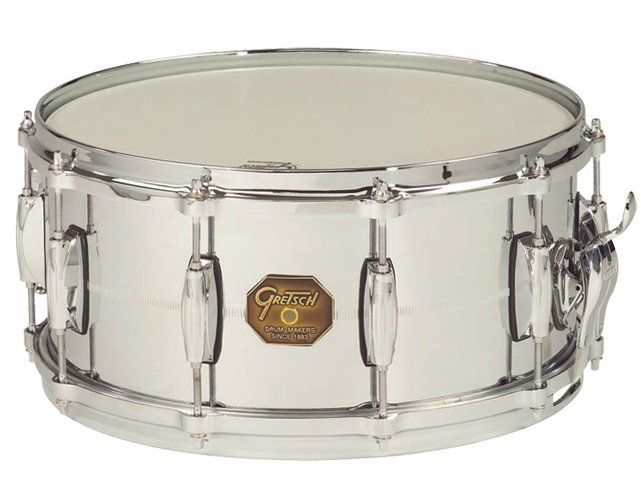 "6.5""x14"" Chrome Over Brass Snare Drum"