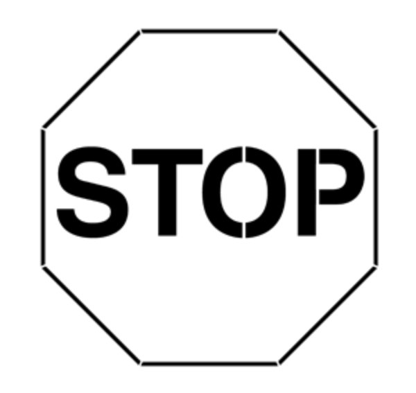 Stop Sign Steel Gobo