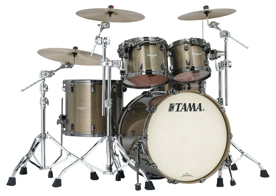 4 Piece Starclassic Bubinga Shell Pack in Galaxy Chameleon Sparkle Finish with Black Nickel Hardware