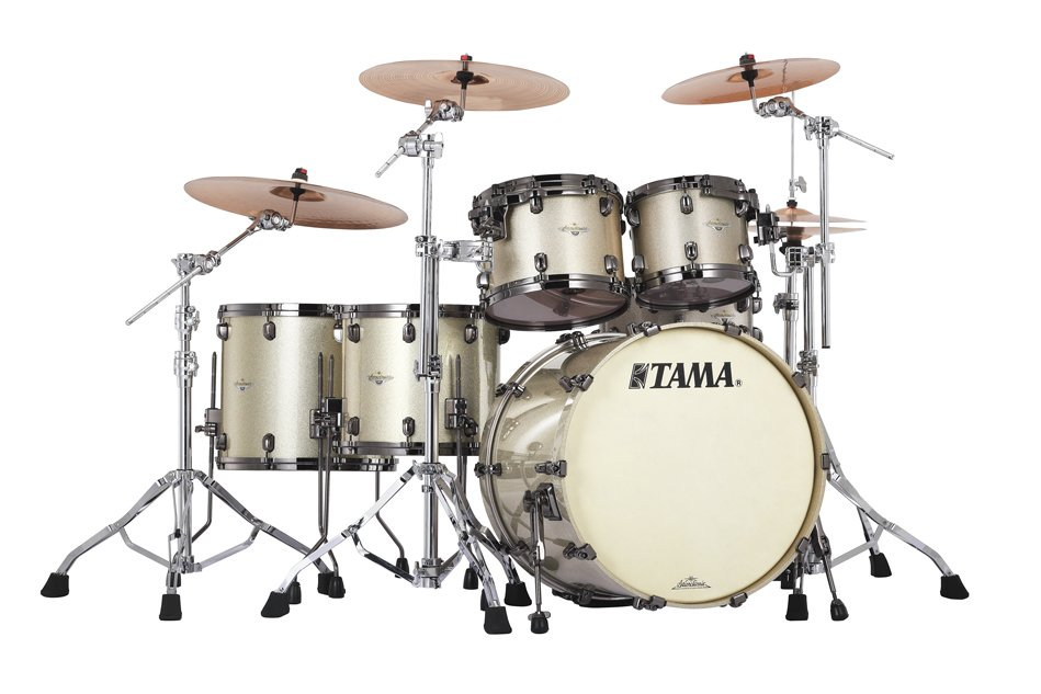 5 Piece Starclassic Bubinga Shell Pack in Champagne Sparkle Finish with Black Nickel Hardware