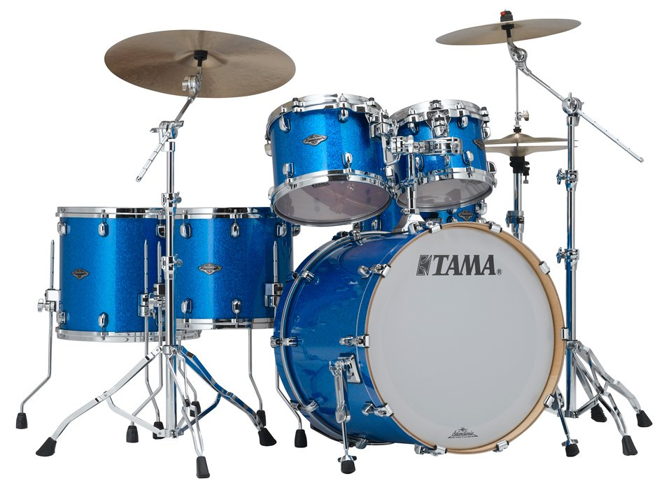 Tama PR52LSVBL 5 Piece Starclassic Performer B/B Shell Kit in Vintage Blue Sparkle Finish PR52LSVBL