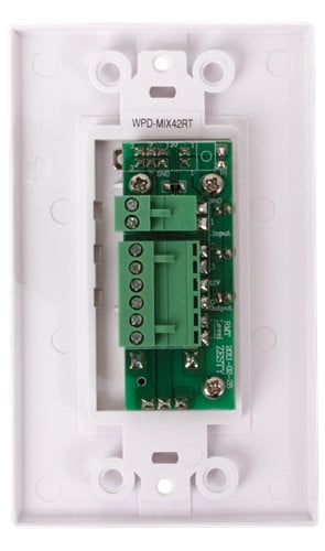 Wall Plate for AA-PHD Mixer/Amplifiers