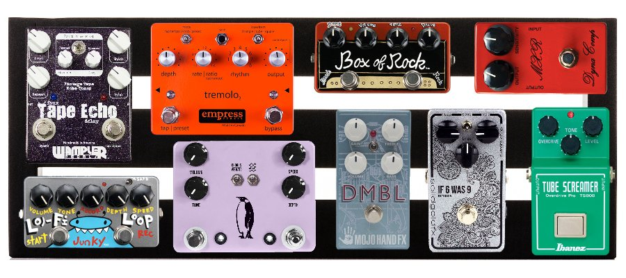 """Three-Rail 20"""" Wide Pedalboard with Soft Case"""