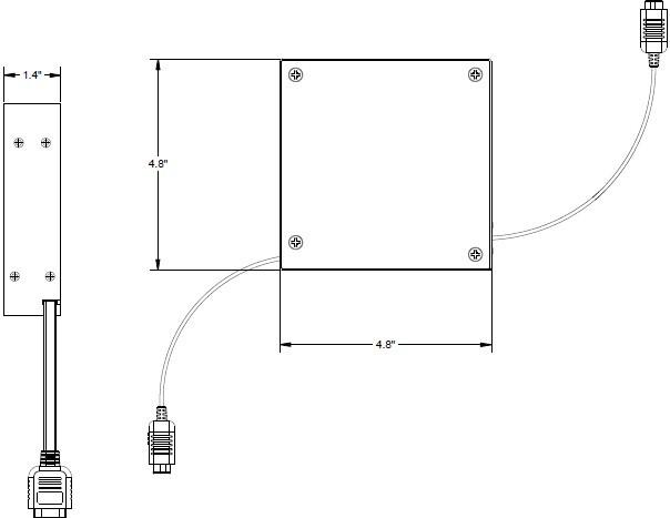 Altinex MINI-ME RT300-121 VGA Male-to-Male Retractable Cable RT300-121
